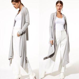 Aritzia Long Grey Cardigan.